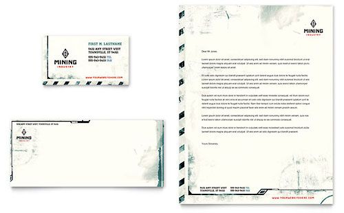 Mining Company Letterhead Template  Download