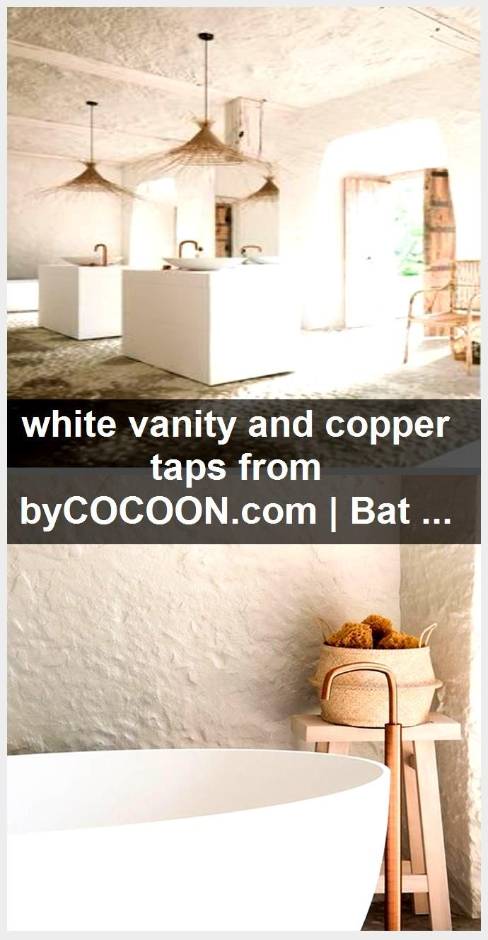 Photo of white vanity and copper taps from byCOCOON.com   Bathroom faucet   sink design  …,  #Bathro…