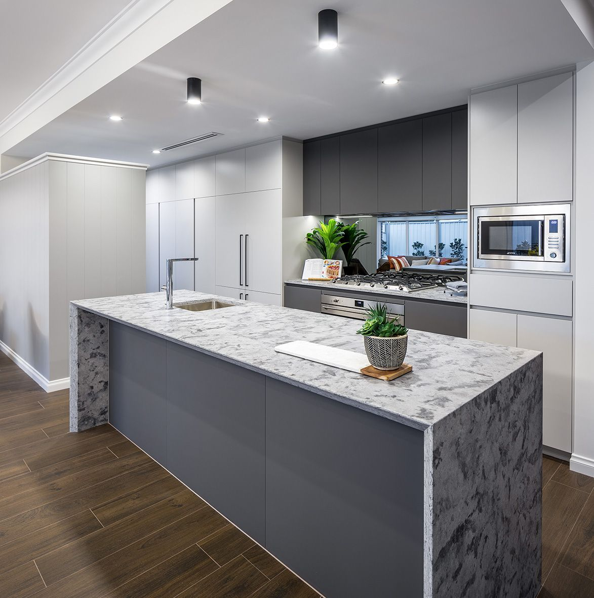 Light filled kitchen with convenient scullery and pantry