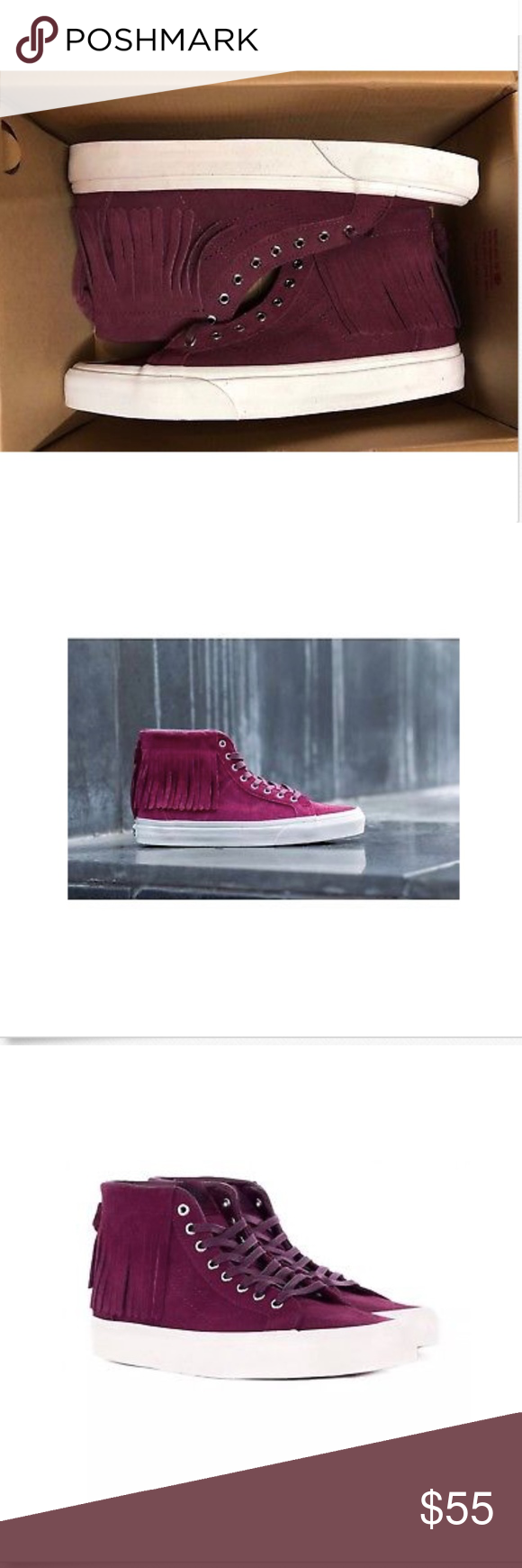 8fed66d07f Vans Sk8 Hi Moc Suede Port Royale Blanc Shoes🌹 Vans Sk8 Hi Moc Suede Port  Royale Blanc Shoes Size Men 8.5 Women 10 Brand New In Box Vans Shoes  Athletic ...