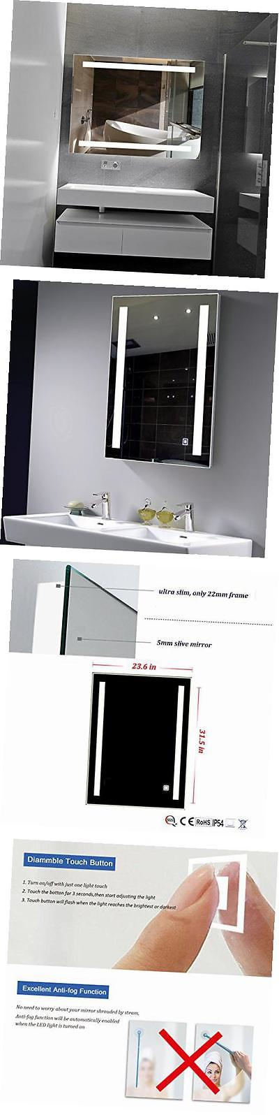 Mirrors 133693 Dimmable Led Backlit Mirror Illuminated Bathroom With Anti Fog Function