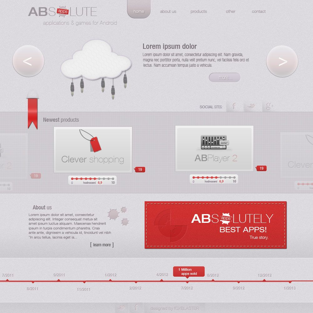 Red White Web Design Social Sites Best Apps