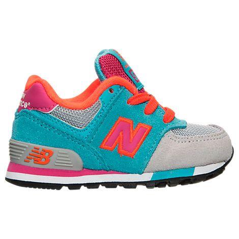 NEW BALANCE GIRLS' TODDLER 574 CASUAL SHOES, GREY. #newbalance #shoes #