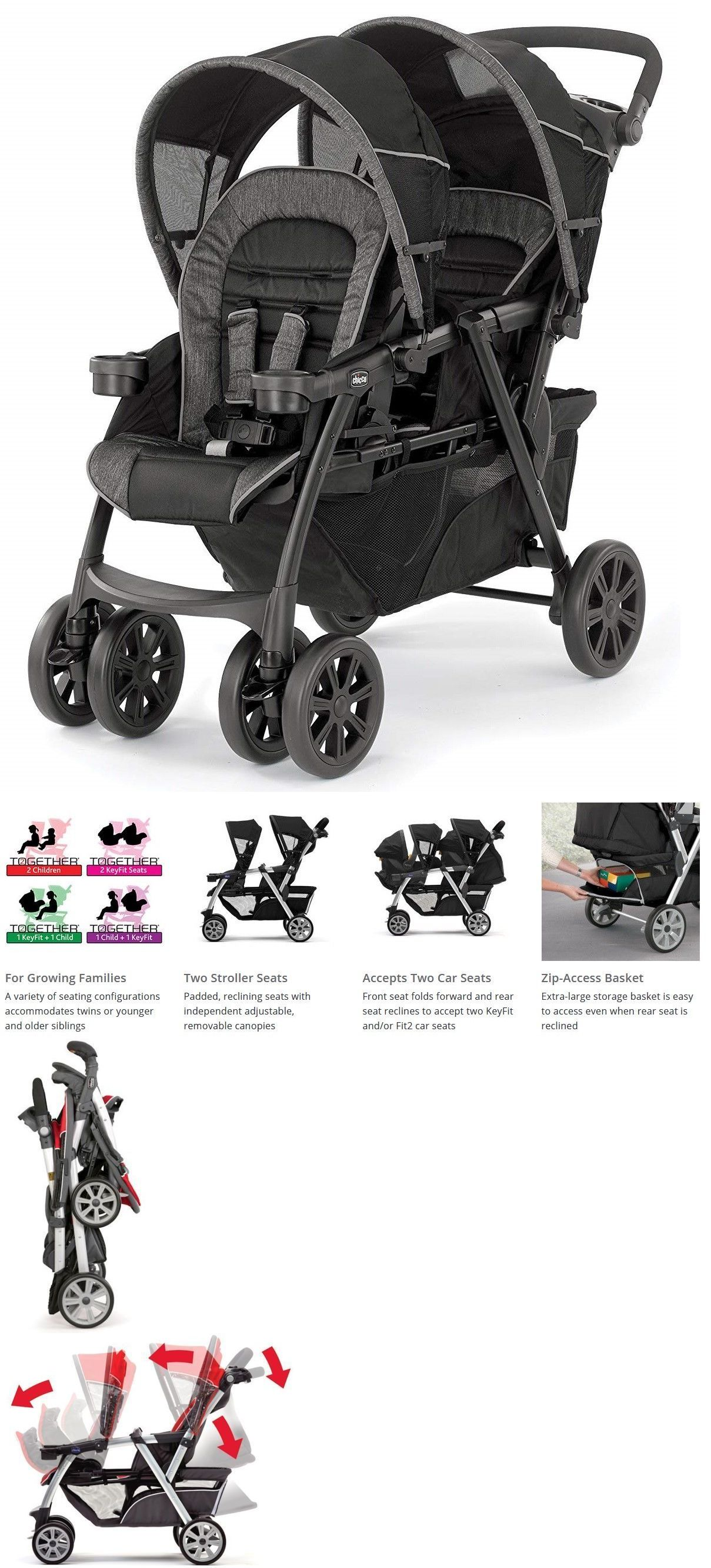 Other Strollers 2989 Chicco Cortina Cx Travel System Stroller W