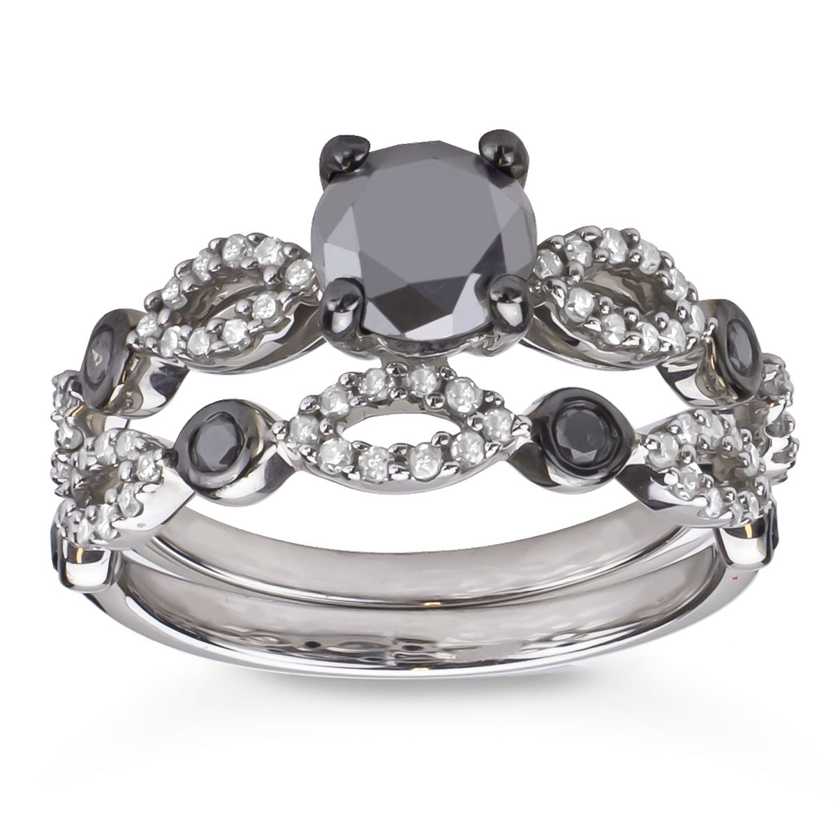 Black diamond ring Mobile Black wedding ring