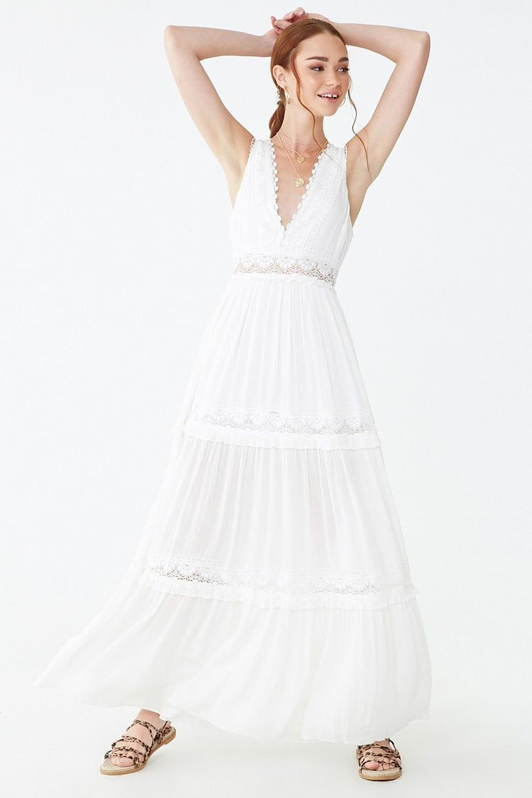 What To Wear For St Louis Spring Photo Session Perfect Flowy White Maxi Dress For Family Photography Session Crochet White Flowy Maxi Dress Maxi Dress Dresses