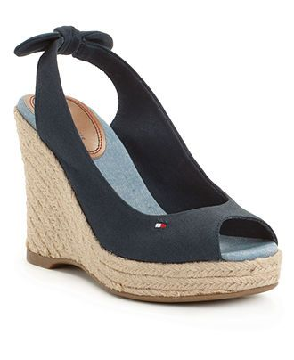 3bb3fd4a8471c Tommy Hilfiger Wedge Sandals... i am in L 3 VE with theses   My ...