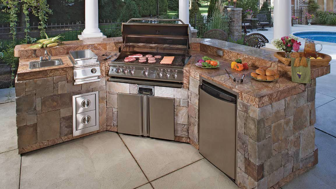 101 Outdoor Kitchen Ideas And Designs Photos Outdoor Kitchen Island Outdoor Kitchen Plans Backyard Kitchen