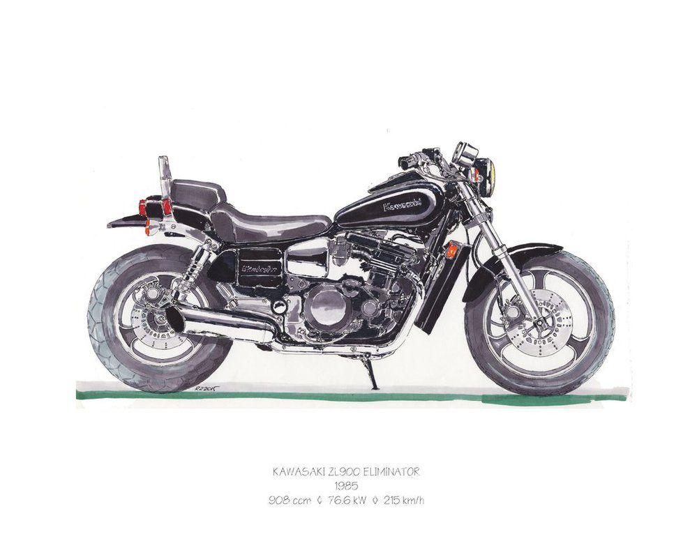 Zl900 Kawasaki Eliminator, Bike Life, Motorbikes, Automobile, Motorcycles,  Motorcycle, Car