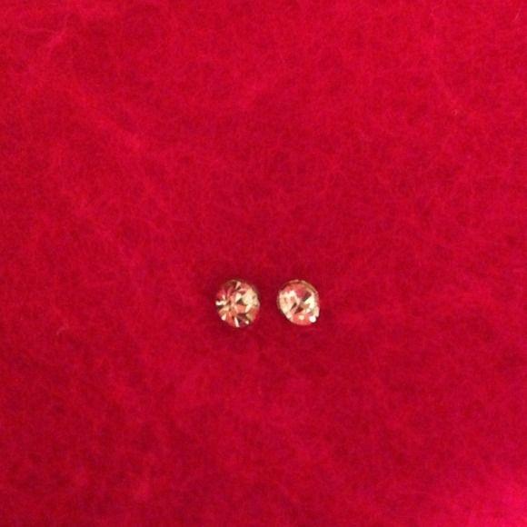 """Diamond"" earrings NWOT circle ""Diamond"" earrings Jewelry Earrings"