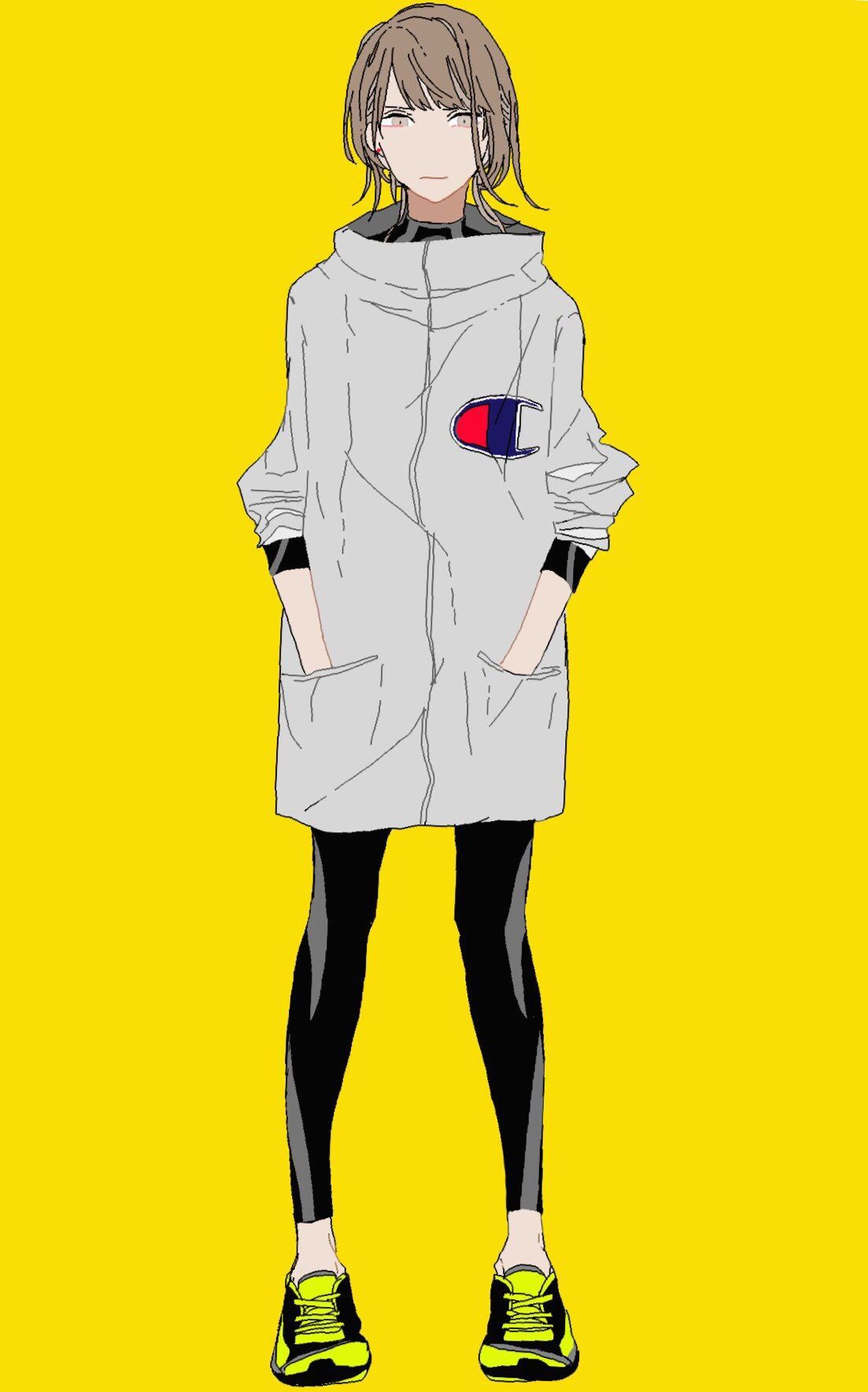 Asleeping 画像 漫画ガール パーカー イラスト 女の子イラスト かっこいい