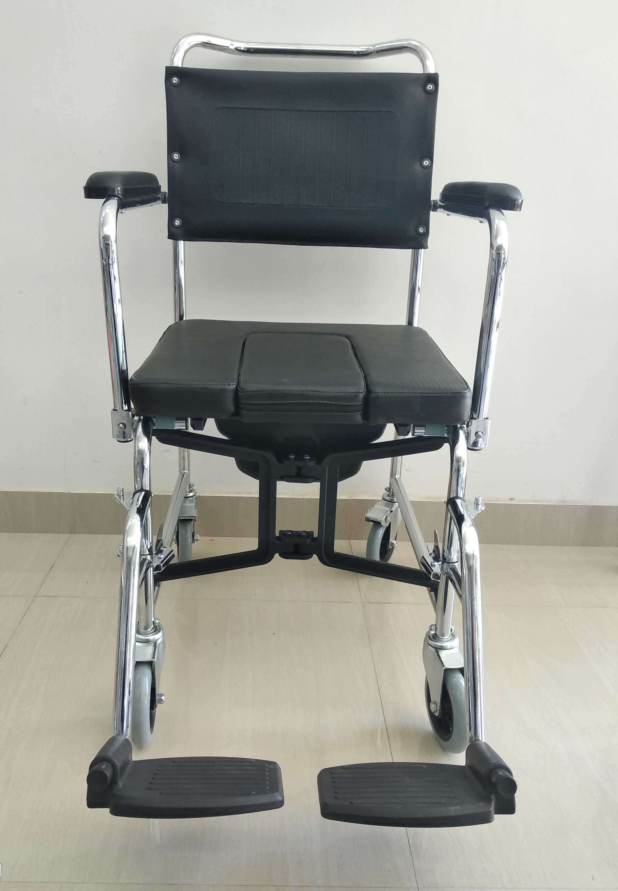 Folding Shower Commode Chair With Wheel Rs6400 Bathroom