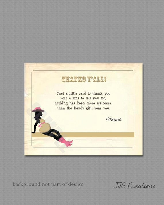Customized Thank You Card Retro Vintage Sexy Cowgirl MaMa by JJsquaredCreations, $6.65