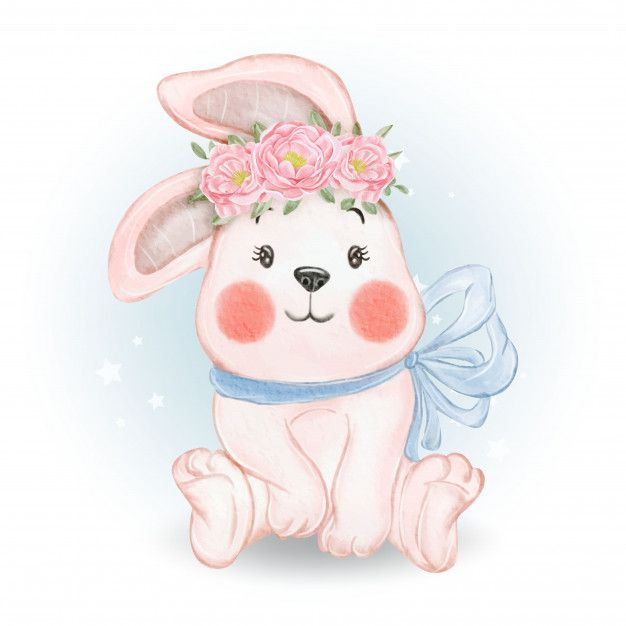 Cute Baby Rabbit Illustration