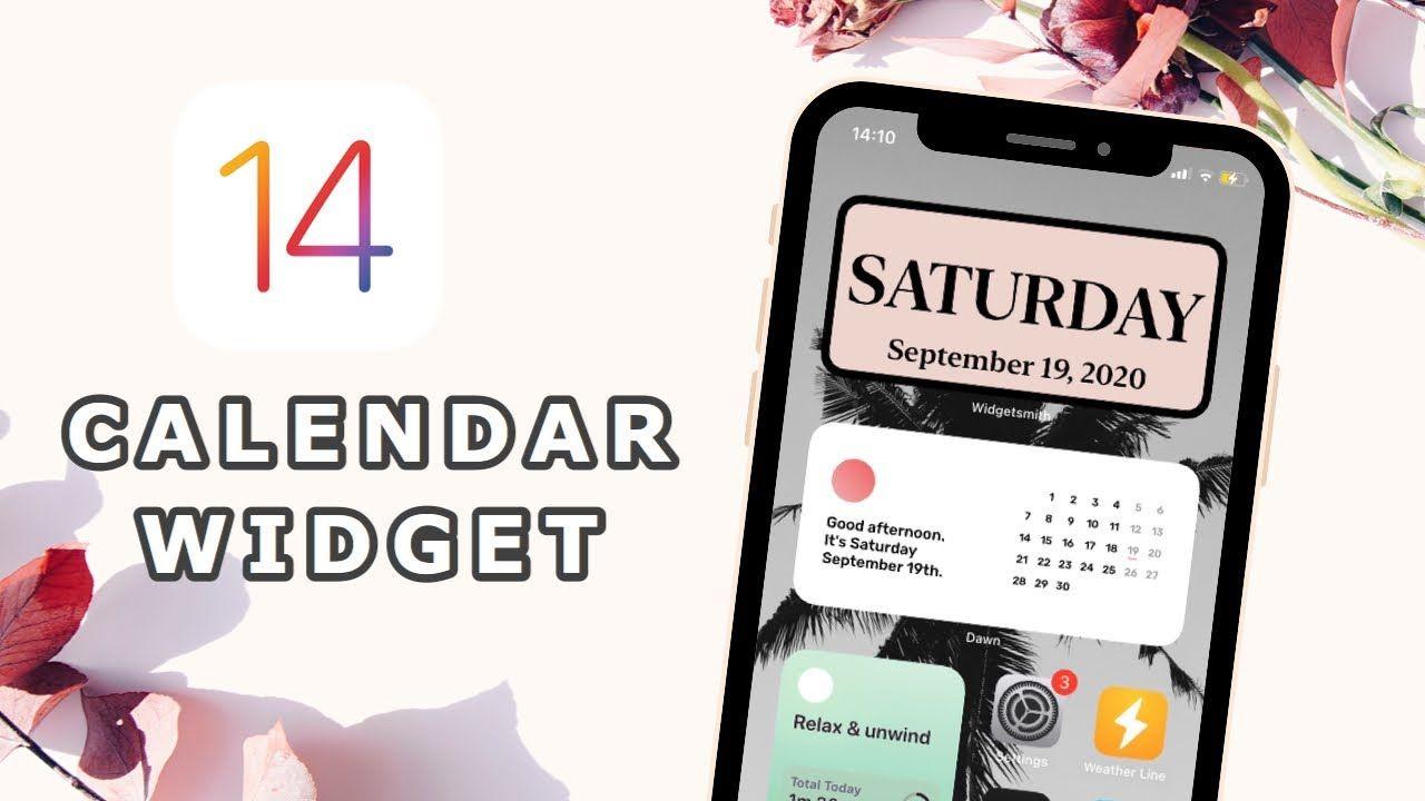Ios 14 Calendar Widget Third Party Aesthetic Calendar How To Download And Use Youtube Calendar Widget Calendar Widget