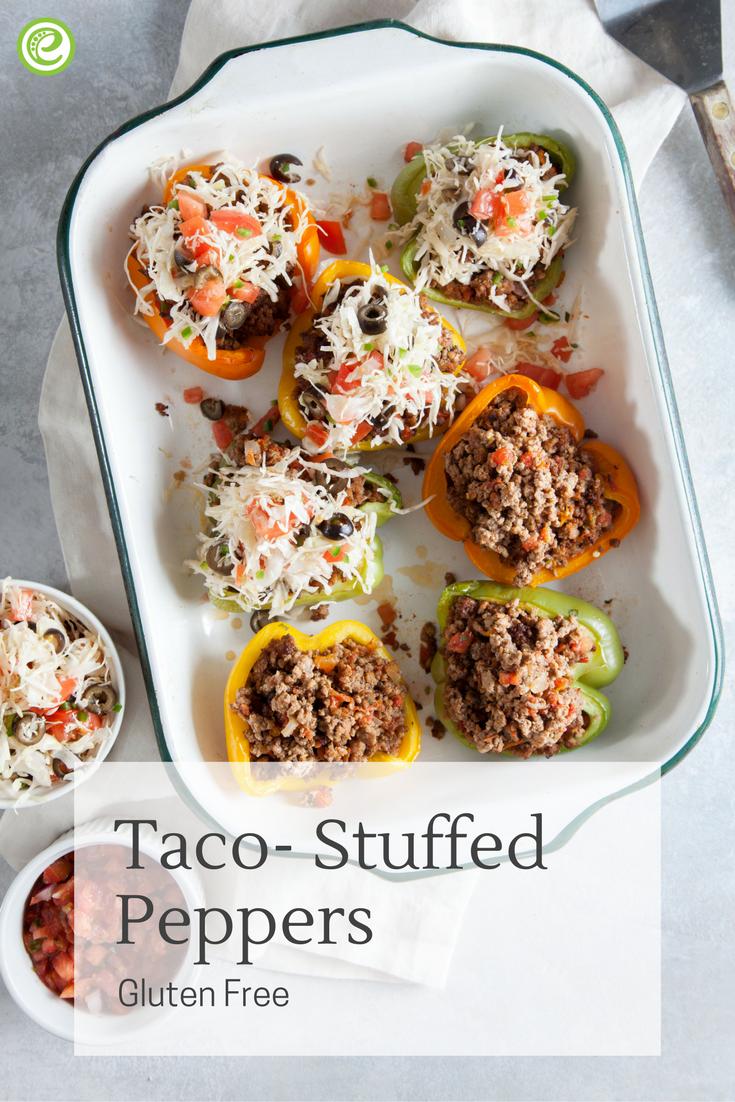 Taco-Stuffed Peppers | Recipe | Stuffed peppers, Food ...