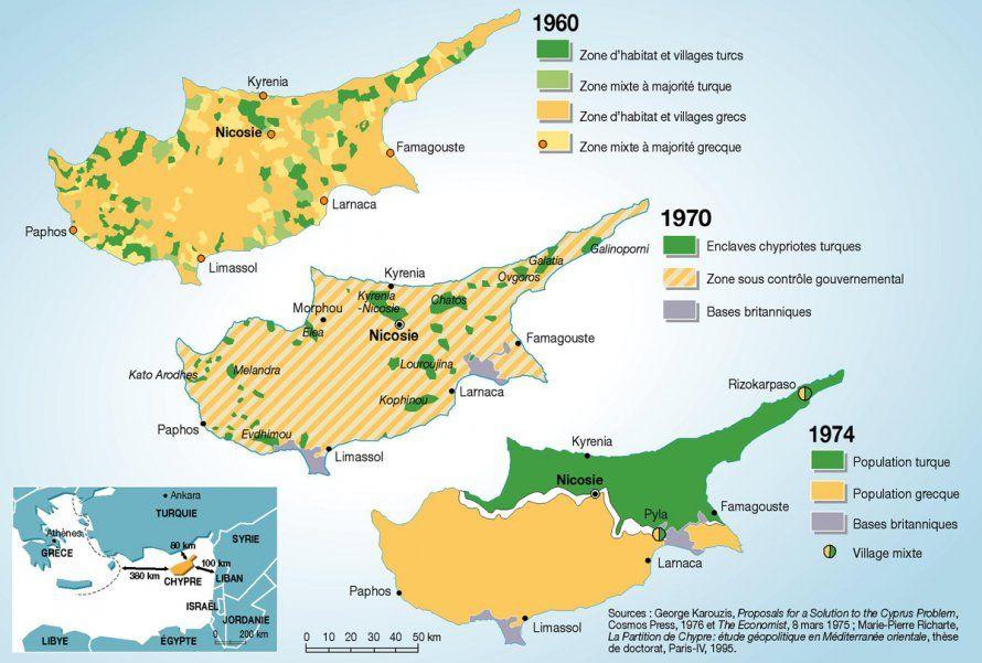 Chypre Une Population Redistribuee Chypre Cartographie Et