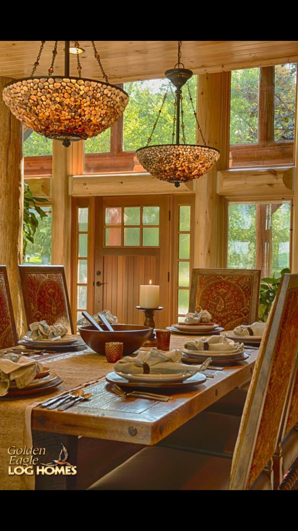 Pin by carol magnone on good ole country pinterest refined log home rustic dining room other metro destree design architects inc dzzzfo
