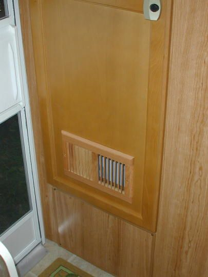 Install an extra vent to the bottom of the bathroom door to add ventilation. & Install an extra vent to the bottom of the bathroom door to add ...