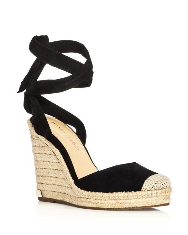 767f0493afa3a Ivanka Trump Winikka Ankle Tie Espadrille Wedge Sandals