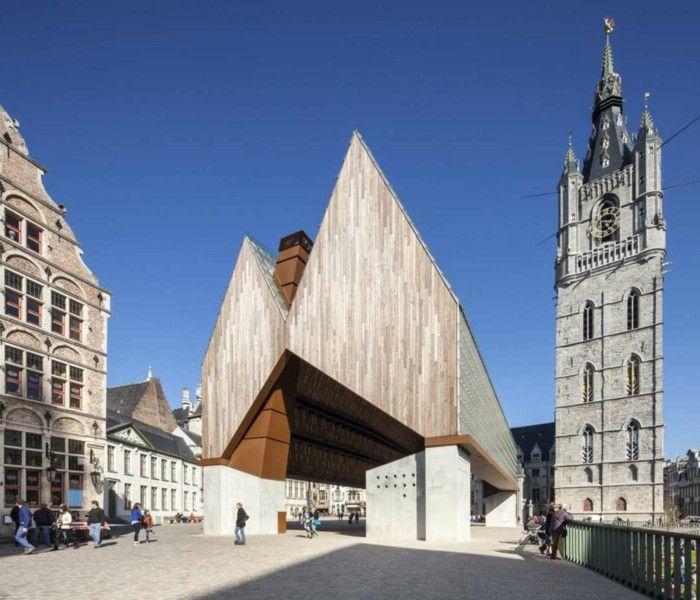 Gothic Architecture Elements Revovierung Market Hall Gent