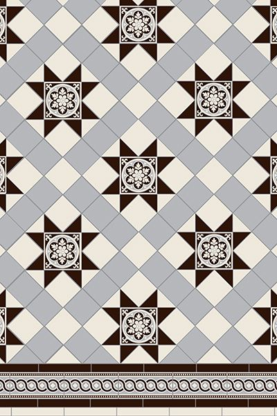 Blenheim 3 Colour Tile Pattern With