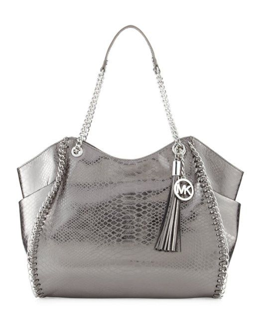 6eb41cebed94 Amazon.com: MICHAEL Michael Kors Chelsea Large Shoulder Tote Bag -  Gunmetal: Shoes