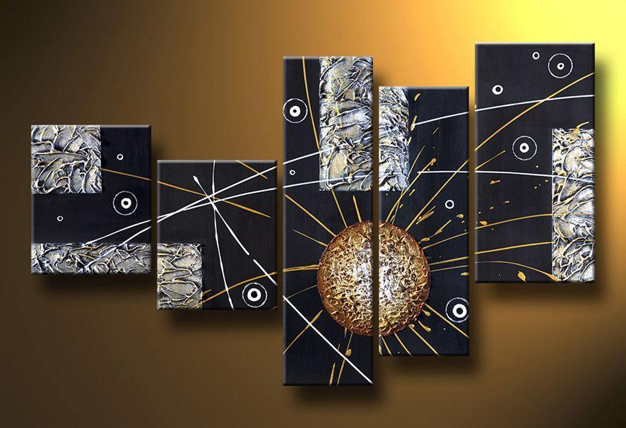 Cuadros abstractos modernos en acrilico texturados for Cuadros de pinturas para comedor
