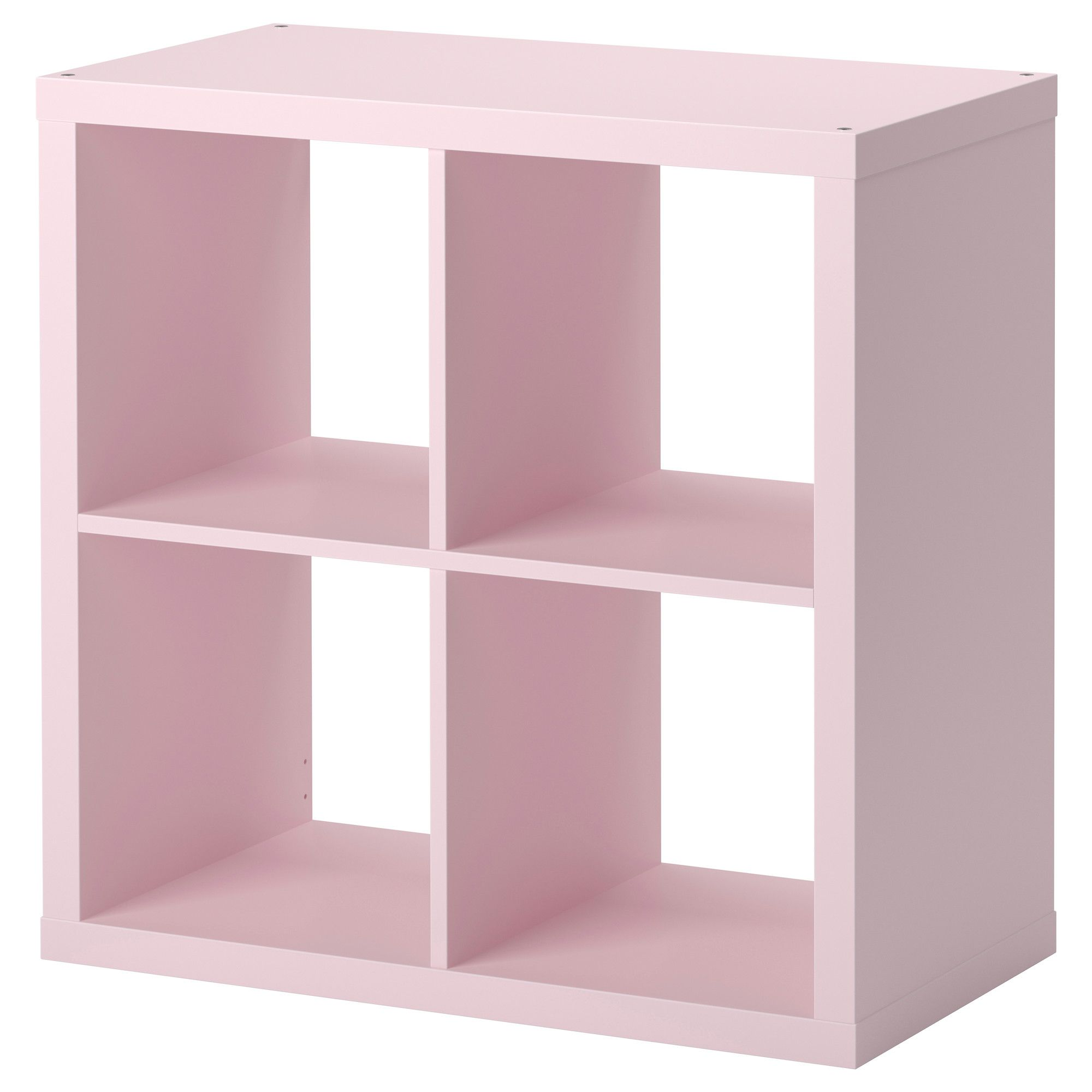 KALLAX Shelving unit - light pink - IKEA -- this will go ...