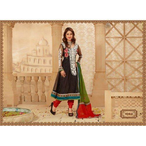 a8f8145e10 Buy Online White Color Salwar Suit Net Fabric With Red Bottom - Online  Anarkali Salwar Kameez Shopping