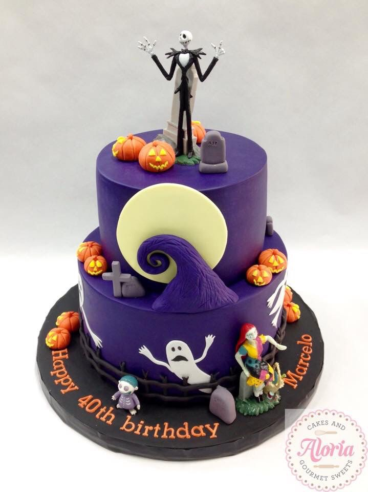 Nightmare Before Christmas Birthday Party Candy  Cake table