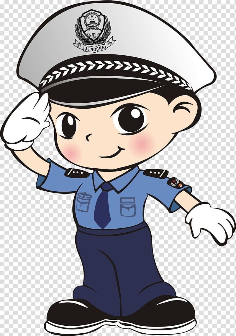 Police Officer Cartoon Q Version Of The Cartoon Police Transparent Background Png Clipart Ilustrasi Karakter Kartun Animasi