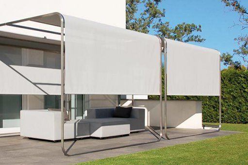 aufrollbares designer sonnensegel mit stangen flexibler sonnenschutz sichtschutz windschutz fr balkon terrasse - Windschutz Terrasse Flexibel