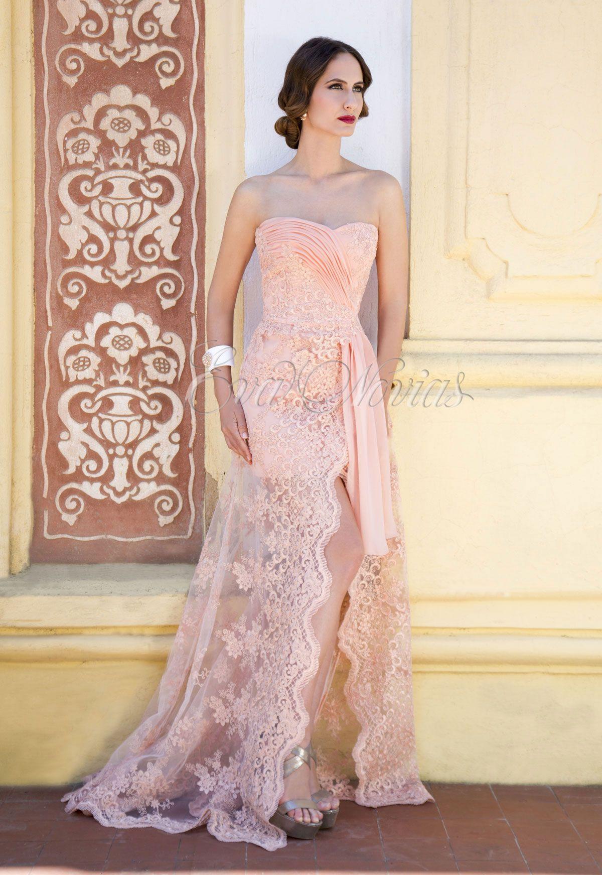 Vestido de fiesta Ana Torres 2016 Modelo 16025 en Eva Novias Madrid ...