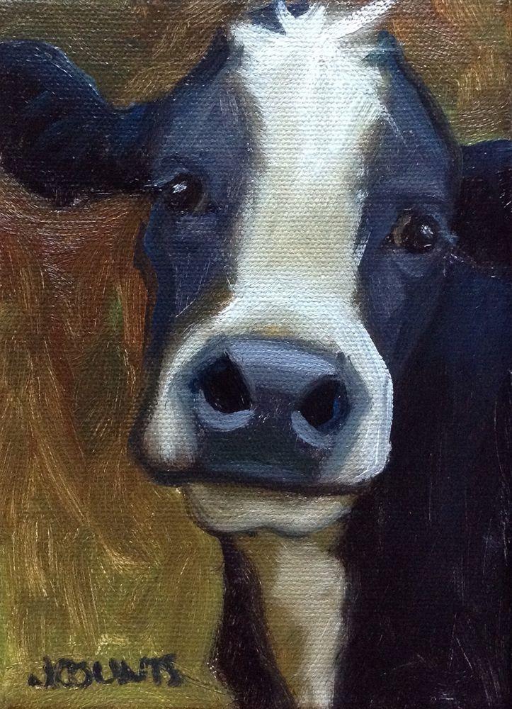 Pluto Farm Art Cow Painting Cow Art