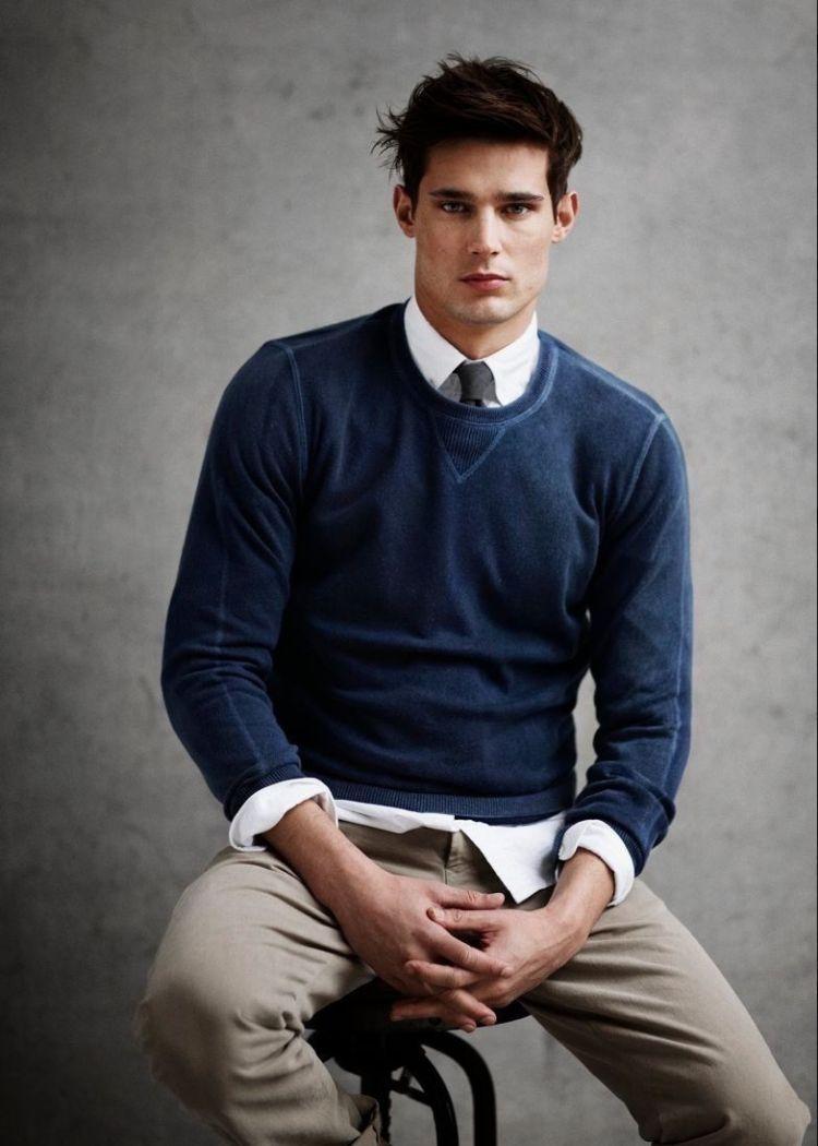hemd unter pullover gelöst sitzen modern männer tipps design