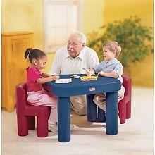 Little Tikes Ensemble Table Et Chaises Aux Couleurs Primaires Table And Chairs Little Tikes Large Table