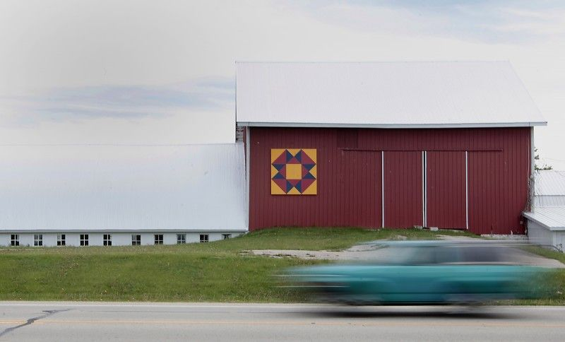 Barn quilts in Wisconsin.