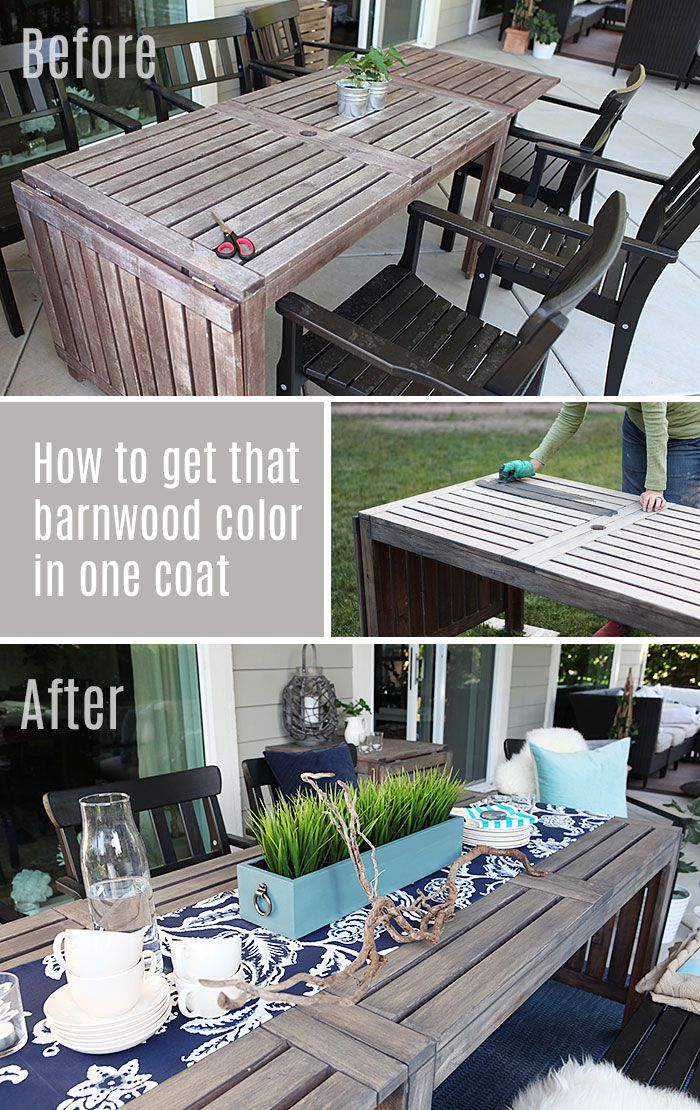 Outdoor Furniture Painted Barnwood Color Pin Olympic Exterior Stain One Part Driftwood Gray To 2 Parts Cinder