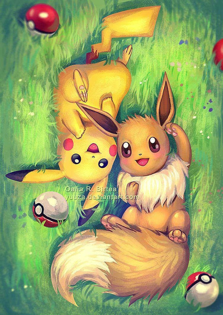 Pikachu Et Evoli Kawaii Pokemon Dessin Pokemon Et Dessin