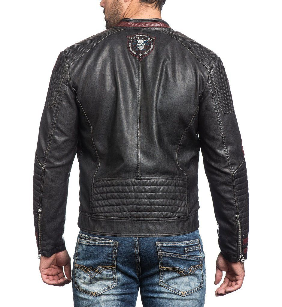 2231e9a65bc Mens Jackets - Street Fighter Chaqueta De Cuero