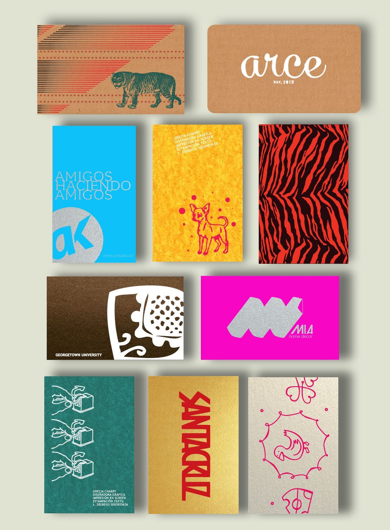 screen printed business cards | Visual Identity | Pinterest ...