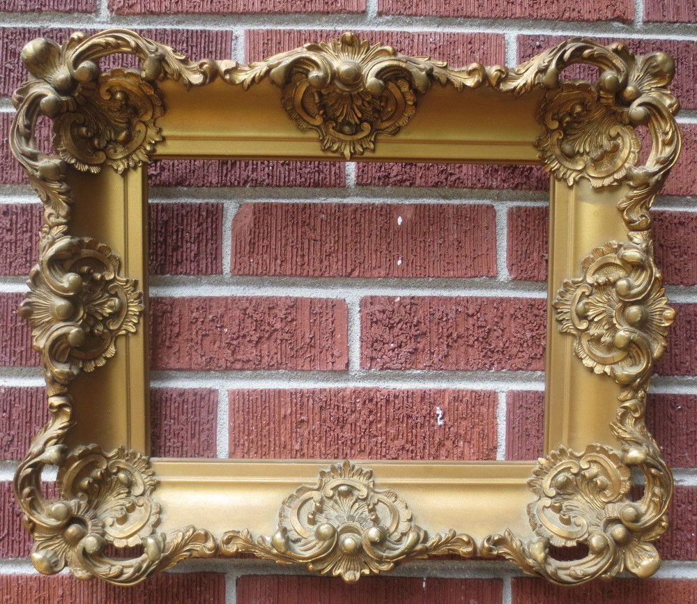 Antique 1890s Louis XIV Style Fancy GOLD VICTORIAN Picture Frame 9 1 ...