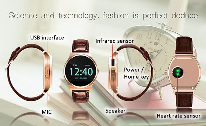 RWATCH R11 Bluetooth 4.0 Smart Watch w/ Heart Rate Monitor / Remote Camera / Genuine Leather Strap  http://www.dx.com/p/410873