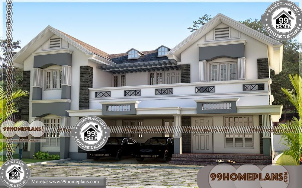 50 Foot Wide House Plans With Double Story Modern House Designs Having 2 Floor 4 Total Bedroom 4 Tot Small House Floor Plans House Plans Bungalow House Plans