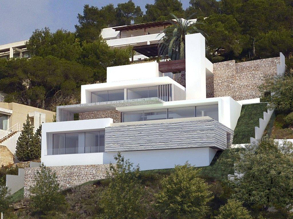 Roca llisa cubos for Casa moderna 7 mirote y blancana