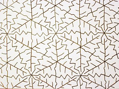 Almost Unschoolers Fall Leaf Tessellation Coloring Sheet - loose leaf template