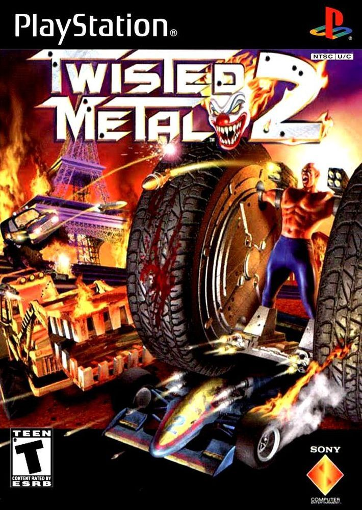 Playstation 2 Ps2 Twisted Metal 2 Game Box Cover Photo Wall Poster