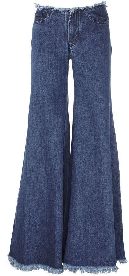 Marques Almeida Fringed Flared Jeans