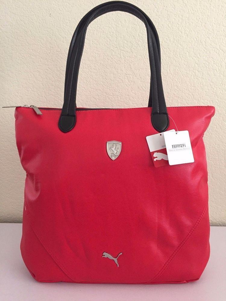 55554cc4e893 PUMA-FERRARI LS Shopper red Women handbag PMMO1033 15